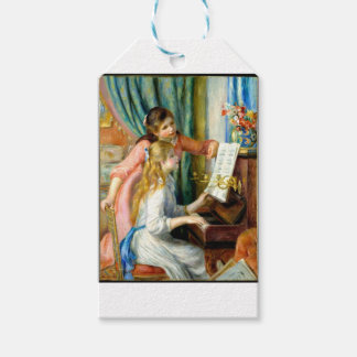 Two Girls at the Piano - Pierre Auguste Renoir Gift Tags