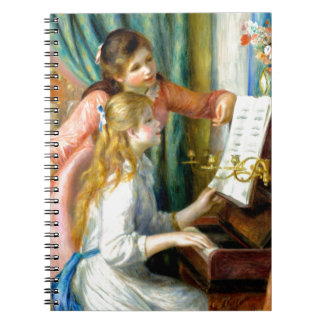Two Girls at the Piano - Pierre Auguste Renoir Notebooks