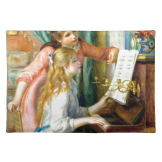 Two Girls at the Piano - Pierre Auguste Renoir Placemat