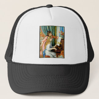 Two Girls at the Piano - Pierre Auguste Renoir Trucker Hat