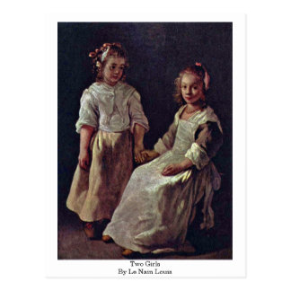 Two Girls., By Le Nain Louis Postcard