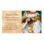 Two Girls Reading Pierre Auguste Renoir painting Business Cards