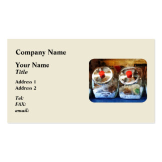 Two Glass Cookie Jars Business Cards