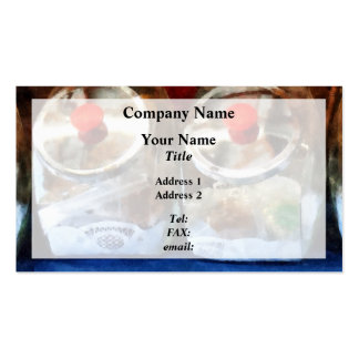 Two Glass Cookie Jars Business Card Templates