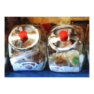 Two Glass Cookie Jars Personalized Announcement