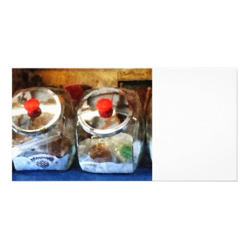 Two Glass Cookie Jars Photo Card Template