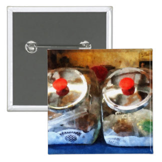 Two Glass Cookie Jars Pin
