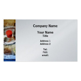 Two Glass Cookie Jars - Platinum Business Card Template