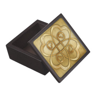 Two Gold Hearts Double Infinity - Gift Box Premium Gift Boxes