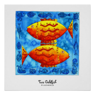 Two Goldfish Poster