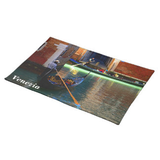 Two Gondolas on a Venetian Canal Placemat