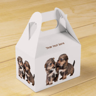 Two Graceful Yorkshire Puppies Favour Box
