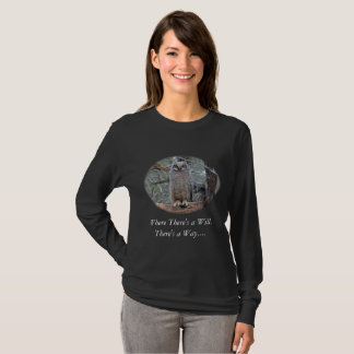 Two Great Horned Owls in a Wicker Basket Nest T-Shirt