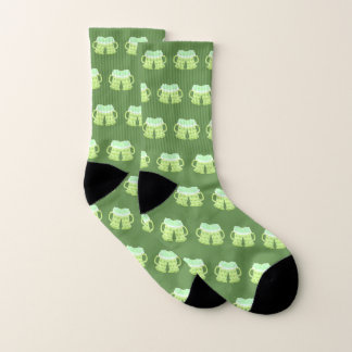 Two green beers - St-Patrick's Day unisex socks