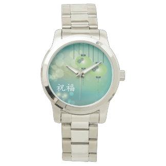 "Two green lanterns ""Blessing"" Wrist Watch"
