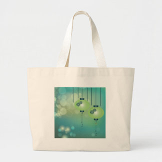 Two green lanterns tote bag