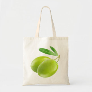 Two green olives budget tote bag