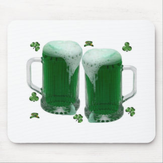 two green st patrick beers mousemat