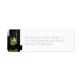 Two Grooms Custom Gay Wedding Return Address Label
