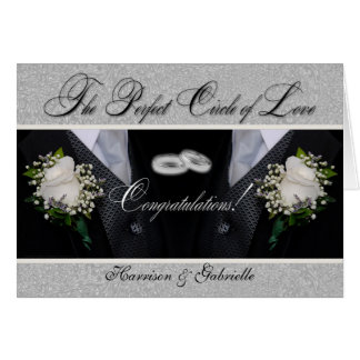 Two Grooms | Gay Wedding or Civil Union | Tuxes Greeting Card