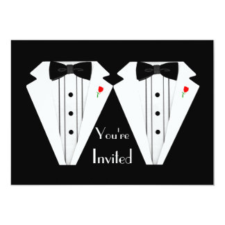 Two Grooms-Gay Wedding Tuxedo Card