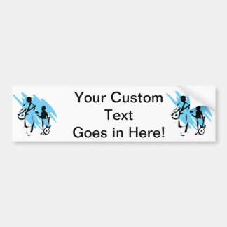 two guitar players outline musician blue png bumper stickers