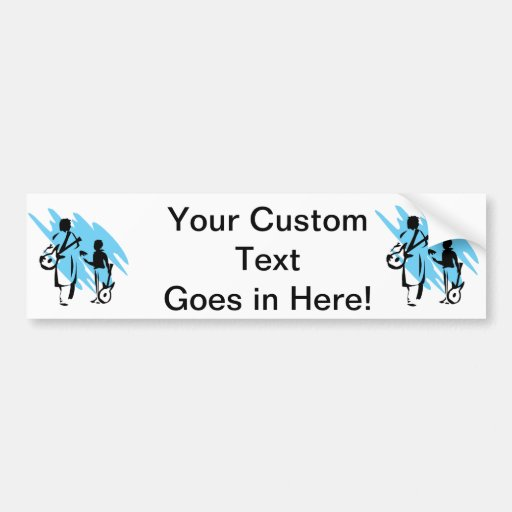 two guitar players outline musician blue.png bumper stickers