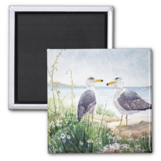 Two Gulls on the shore Magnet