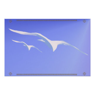 Two Gulls Poster
