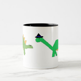 Two Halloween Dinosaurs mug