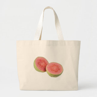 Two halves pink guava canvas bags