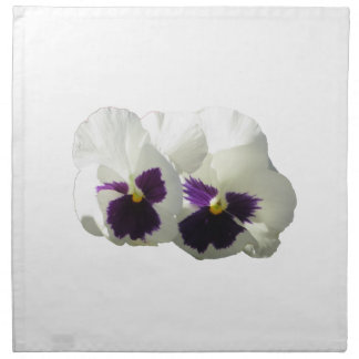 TWO HAPPY PANSIES NAPKIN