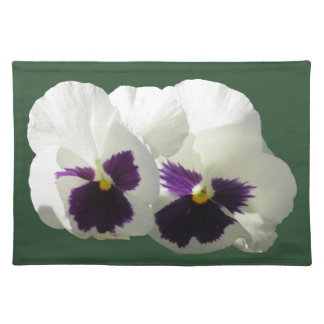 TWO HAPPY PANSIES PLACEMAT