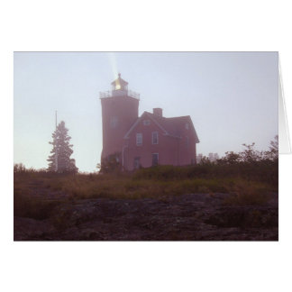 Two Harbors Lighthouse at Dusk Card