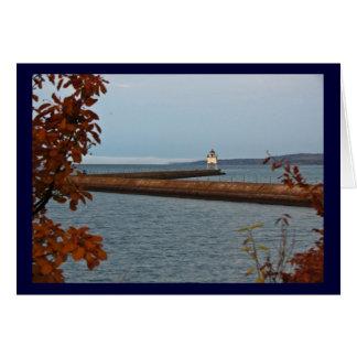Two Harbors Pier Light Card