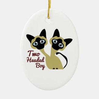 Two Headed Boy Ornaments