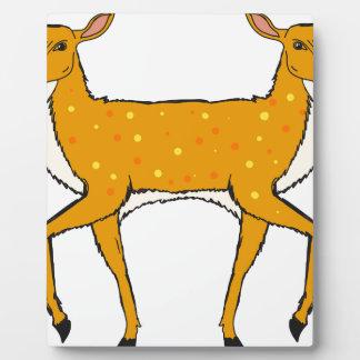 Two Headed Deer Vector Sketch Plaque