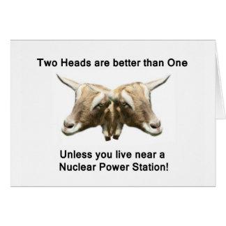 Two Heads Anti-Nuclear Logo Greeting Card