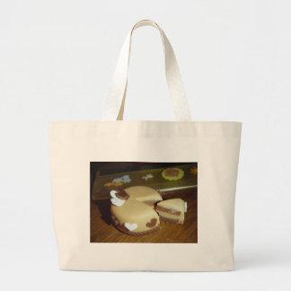 Two Heart Cake Tote Bags