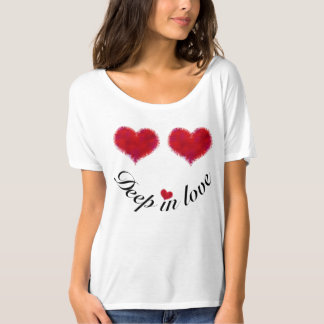 Two Heart Smiley Face - Deep In Love T-Shirt