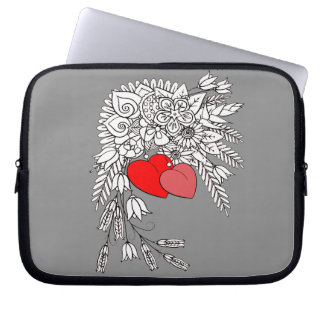 Two Hearts 2 Laptop Sleeve