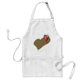 Two Hearts Adult Apron