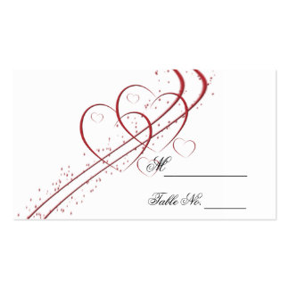 Two Hearts as One Place Card Business Cards
