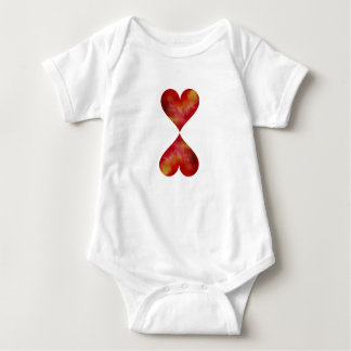 Two Hearts Baby Suit Baby Bodysuit