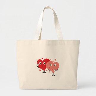 Two Hearts Canvas Bags