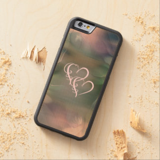Two Hearts Beat As One Wood iPhone 6 Case