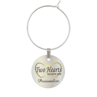 Two Hearts Become One | Wedding Wine Charm