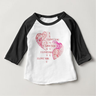 Two Hearts - I Love You Baby T-Shirt
