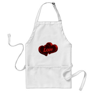 Two Hearts In Love Adult Apron