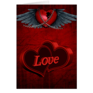 Two Hearts In Love Greeting Card